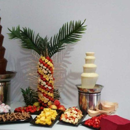 XXL chocoladefontein met Fairtrade pure chocolade