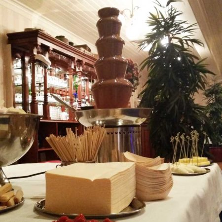 medium chocoladefontein met fairtrade melk chocolade